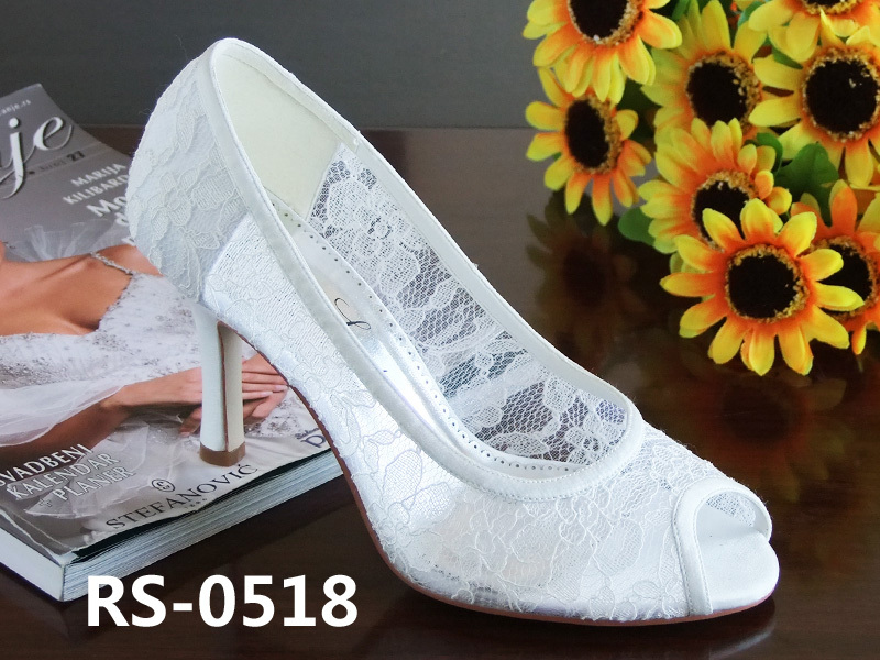 2014 New style Lace white wedding shoes bride Comfortable high heel bridal bridesmaid