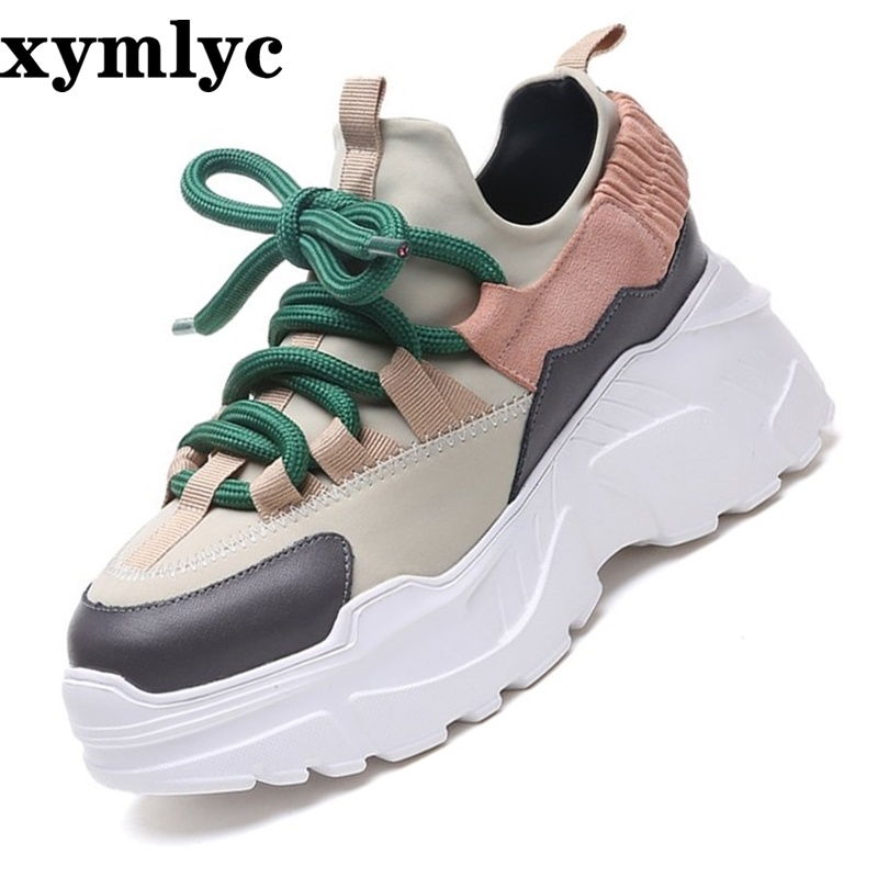 Women Sneakers 2018 New Fashion Women Casual Shoes Trends Ins Female Flats Platform Spring Autumn Lace Up Shoes Woman Size35-40(China)