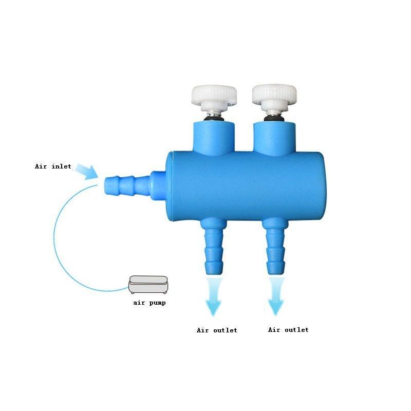 4/6/8/10/12 Way Aquarium Air Flow Control Inflow Pipe Air Pump Garden Water Tube Volume Control Valve Pump Aquarium Accessories Проектор