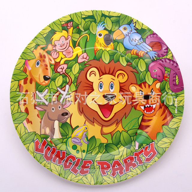 Birthday paper plates one-time cake paper plates/paper disc jungle animals eat dish  sc 1 st  AliExpress.com & Birthday paper plates one time cake paper plates/paper disc jungle ...