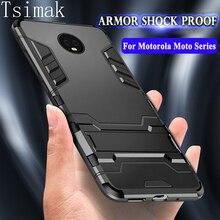 Tsimak Shockproof Case For Motorola Moto G5 G5s G6 E5 Plus Z2 Play Cov