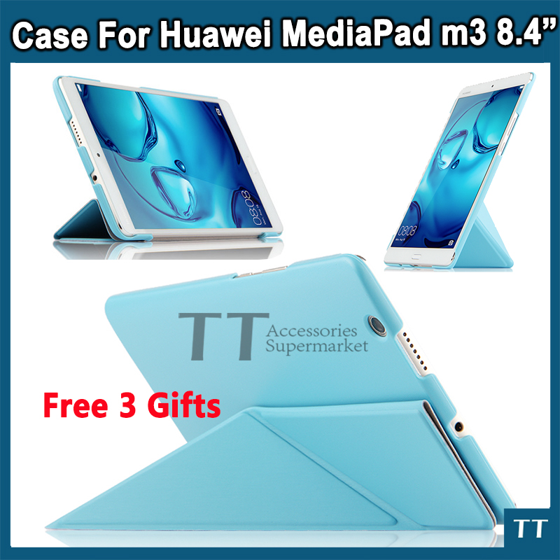 Ultra Thin Pu Leather Cover for Huawei Mediapad M3 Case 8.4 inch Cover Case For Huawei Mediapad M3 BTV-W09 BTV-DL09 ultra thin pu leather case cover for huawei mediapad m3 btv w09 btv dl09 8 4 inch tablet cases stylus film