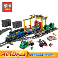 LEPIN 02008 City Series The Cargo Train Set Building Blocks Bricks RC Model Bricks Train Children