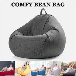 Bean Bag Диван Signle Чехол для стула шезлонг диван Османская Мебель для комнаты без наполнителя Beanbag кровать пуф слоеный диван ленивый татами