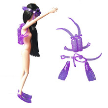Mininature Simulazione Diving mask attrezzature nuoto giocattoli per 1/6 dolls accessori per barbie doll(China)
