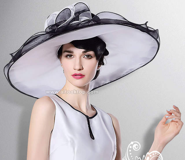 b7453044377 placeholder White kentucky derby hats for tea party dresses ladies church  hats for black women summer wide