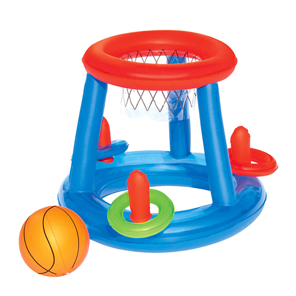 Childrens Inflatable Floating BasketBall Hoop Ring Toss Kids Swimming Pool Toy AN88