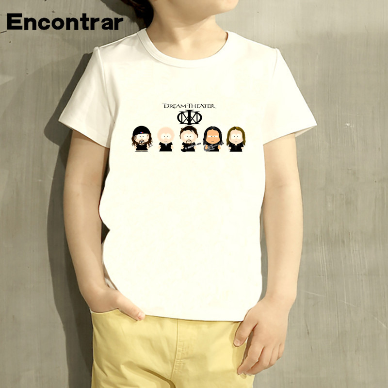 Kids Dream Theater Rock Band Design Baby Boys/Girl TShirt Kids Funny Short Sleeve Tops Children Cute T-Shirt,HKP931