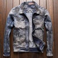 Высокое качество Мужские автомобильные куртки джинсовые пальто весна плюс Размеры 3XL Европейский Стиль мужские джинсовый костюм платье ку