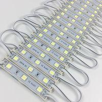 10 шт./лот светодиодный модуль 5054 3 LED DC12V водонепроницаемый рекламный дизайн Светодиодные модули белого цвета супер яркое освещение