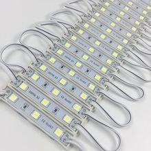 10 יח\חבילה LED מודול 5054 3 LED DC12V עמיד למים פרסומת עיצוב LED מודולים לבן צבע סופר בהיר תאורה