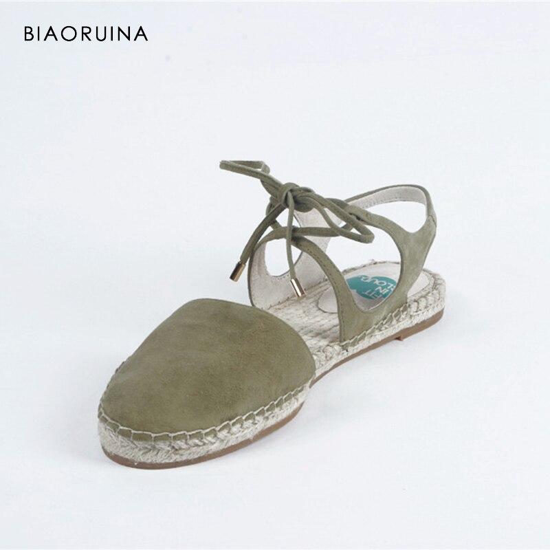 flache Back Schuhe Solide Frauen Shallow Sommer Strand handgefertigt gr gebunden Casual Hanf schwarzArmee Strap Cross Biaoruina Sandalen 3uFKlT1Jc