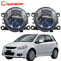 Cawanerl 2 Pieces 100W Car Front Halogen Fog Light Daytime Running Lamp DRL 12V High Power