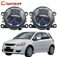 Cawanerl 2 Pieces 100W Car Front Halogen Fog Light Daytime Running Lamp DRL 12V High Power For Suzuki SX4 (EY, GY) 2006 2014