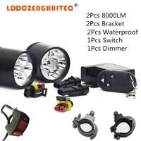 LDDCZENGHUITEC Chip LED Universal Motorcycle Fog Light Auxiliary Lamp 40W Motorbike Headlight Fog Aluminum Lamp Universal