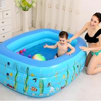 1.3M Three ring Baby Inflatable Printing Swimming Pool PVC Play Bathing Pool Portable For Family Parent child Interactive Game