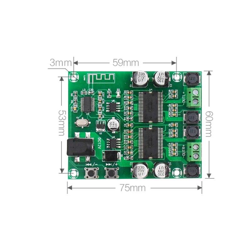 טלויזיות, פלאזמות, LCD Bluetooth מגבר מועצת Dual Core HD עיבוד HIFI Professional Edition Dual Channel 20 * 2 DIY מגברי אודיו Power דיגיטלי (3)
