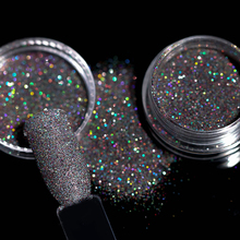 Holographic Glitter Powder Nail Art Decorations Set