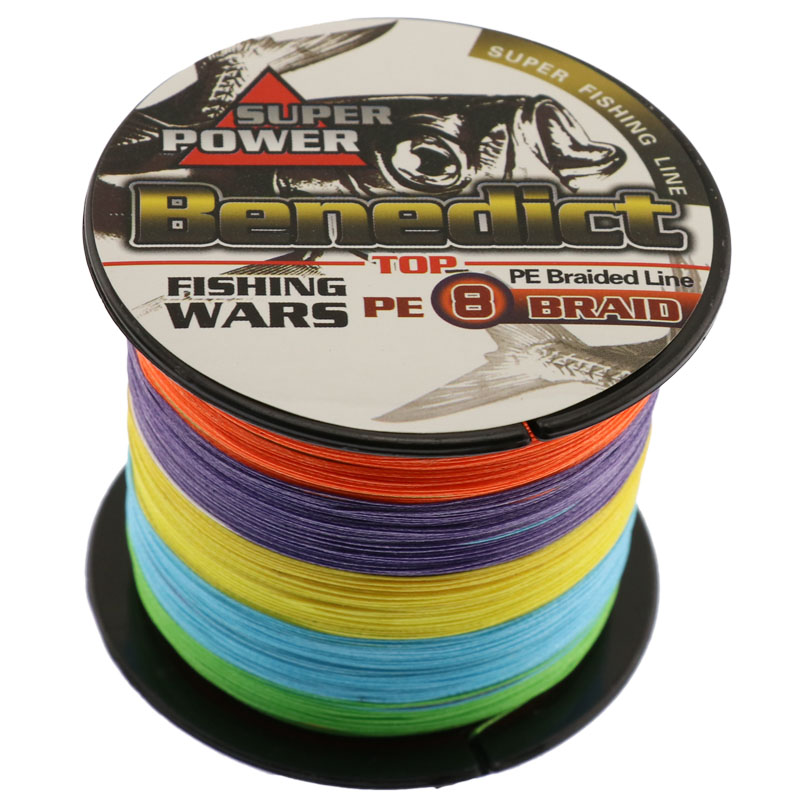 1000M Strong Japan Multifilament PE Braided Fishing Line rainbow super fishing rope for sea fishing fishing braid 8 strands