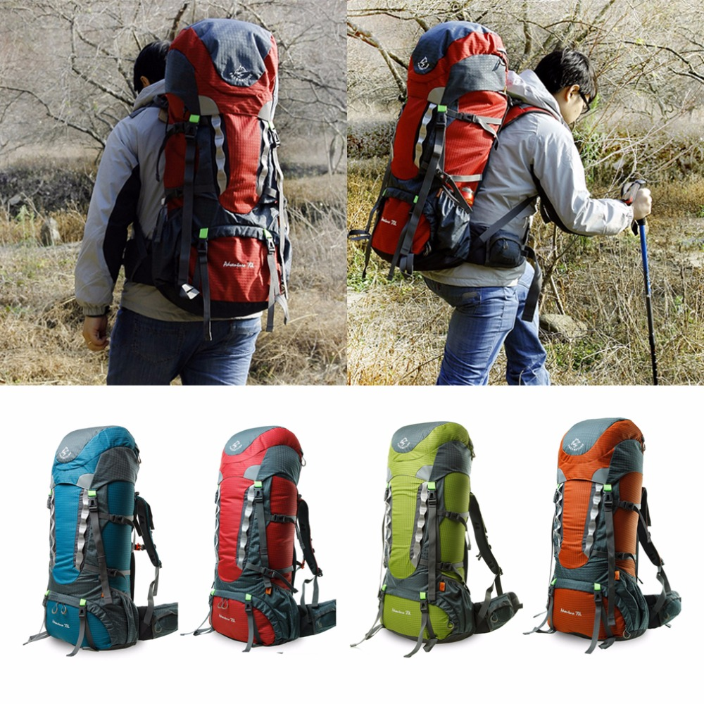 Clear Stock 70L Waterproof Mountaineering Bag Camping Hiking Rucksack Travel Backpack Free Shipping