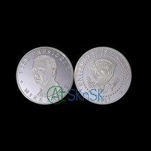 Preço barato 2 projetos Primeira dama Dos Estados Unidos a Melania Vice presidente Pence prata banhado moedas comemorativas moedas colecionáveis
