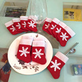 12 Pieces/Set Mini Christmas Stockings Dinnerware Cover Xmas tree decorations Christmas Decorations Festival Party Ornament