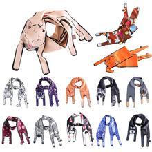 Шелковые шарфы с 3D принтом животных, милый шарф с котом, тигром, женские сумки, шарфы, Детские шарфы, хороший подарок, новинка