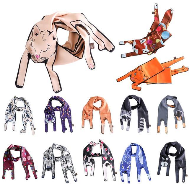 3D принт животный принт шелковые шарфы прекрасный кот Тигр шарф Для женщин сумки шарф Детские шарфы хороший подарок 2018 Новые