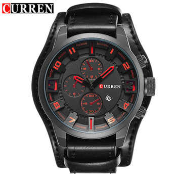Men\'s Watches Fashion Luxury Brand CURREN Military Quartz Sports Mens Watch Casual Leather Wristwatches Male Clock Montre Homme