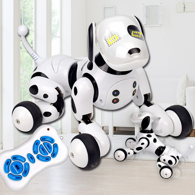 2018 fashion RC Smart Dog toy Sing Dance Walking Remote Control Robot Dog Electronic Pet Kids Toy dropshipping hot sale short plush chew squeaky pet dog toy