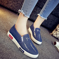 new 2017 women slip on bling denim canvas shoes loafers for women driving mocassins flat casual shoes  plus size 35-40
