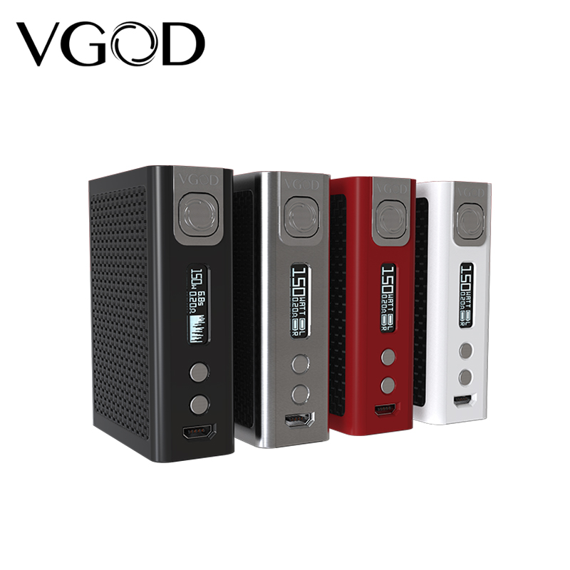 Original VGOD PRO 150 TC Box Mod Igniting clouds 150W electronic cigarette Mod For 510 thread RDA RDTA RBA Tank Atomizer Vapor original ehpro fusion 2 in 1 kit 150w tc mod box 4ml double chambers atomizer rdta metal 510 thread electronic cigarette vape