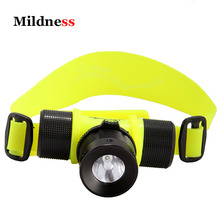 Lamp 50M Diving Headlight Torches 600 Lumens Scuba Dive Light Underwater Hunting Torch Flashlight AAA 18650