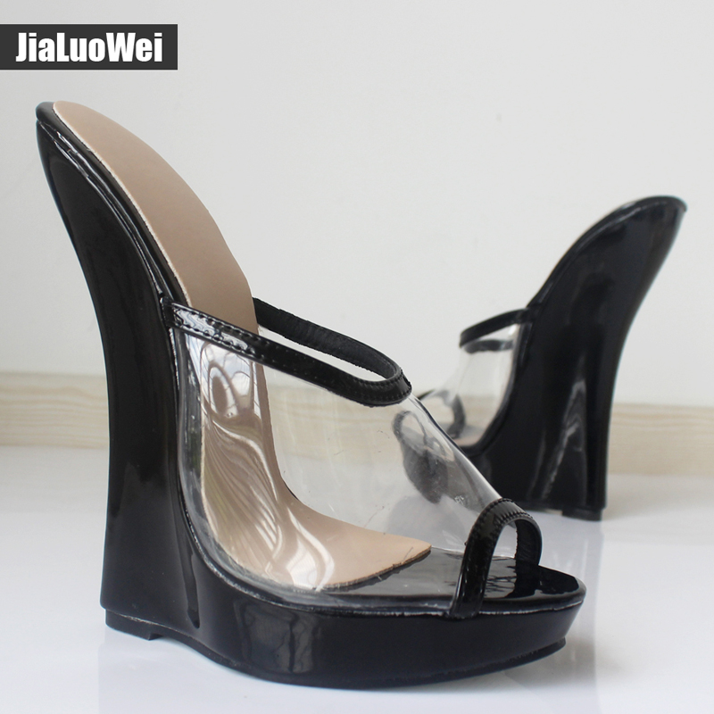 Jialuowei New Summer Transparent Clear Pvc Shoes Woman
