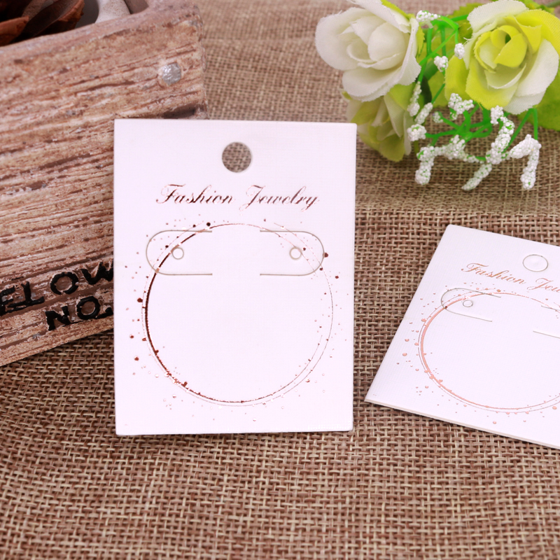 Can Customize Logo Card Wholesale 100pcs Jewelry Packaging Cards Earring Display Cards 4.5x5.8cm Price Tags For DIY Handmaking