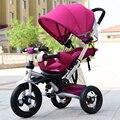 Novo design brinquedo triciclo Criança carrinho de bebê para 0-6 anos de idade cama de bebê pode sentar + passeio de bicicleta em movimento + mentir dormir três em um