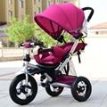 Nuevo diseño de juguete triciclo Niño cochecito de bebé para 0-6 años de edad bicicleta móvil cama de bebé puede sentarse + montar + mentira dormir tres en uno