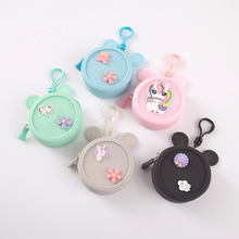 Candy Color Girls Round Coin Purse Small Mini Money Bag Children Daily School Coin Purse Cartoon Wallet Kids Cute Card Money Bag