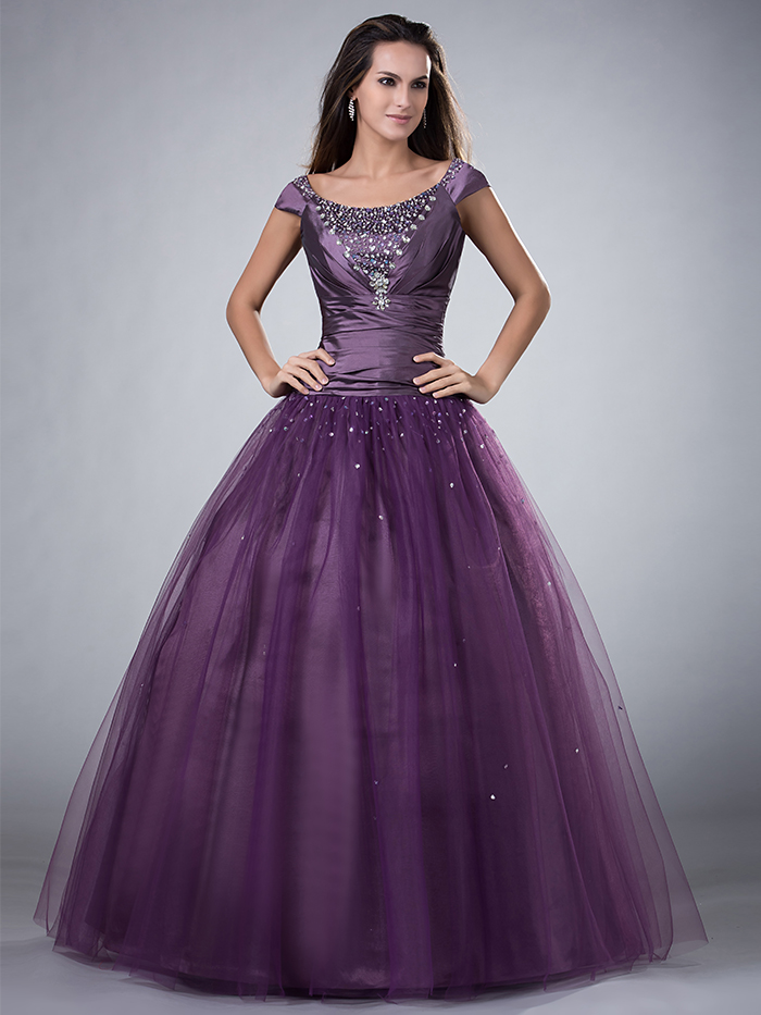 Popular Modest Purple Prom Dresses-Buy Cheap Modest Purple Prom ...