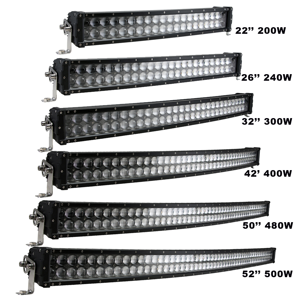 Sufemotec 5D Curved LED Light Bar 200W 240W 300W 400W 480W 500W For Off Road Trucks 4X4 SUV ATV Heavy Duty Strong Shell IP68 12V 4 200 4 200 500