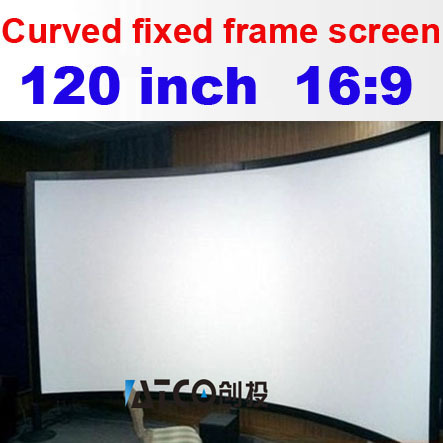 High Quality Matt White HD Fabric 16:9 120 inch front projection ...