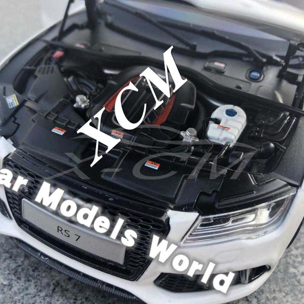 Car Model for KengFai J/'s Models RS7 White//Carbon Fiber Side Mirrors 1:18+GIFT