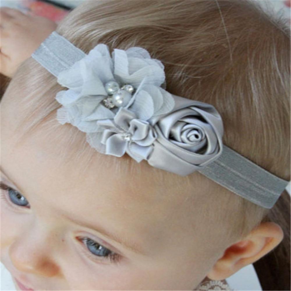 Fancy Kids Headband European American Style Korean Mesh Elastic Children s Hairband Baby Colorful Flower Cute