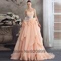 Alta qualidade Coral quinceanera Vestidos on line Ruched Ruffles Plus Size 15 anos vestido de Vestidos de debutantes com