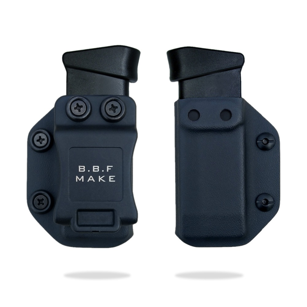 BBF Make IWB/OWB KYDEX Magazine Pouch Holster Fits: Glock 43 Magazine Pouch HandGun Case For Inside or Outside Carry