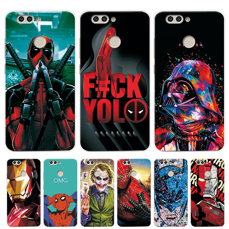 """adlucky Case Cover For Huawei NOVA 2 PIC-AL00 5.0"""" Charming Back Covers For Huawei Nova 2 Iron Man The Avengers Soft Phone Case"""