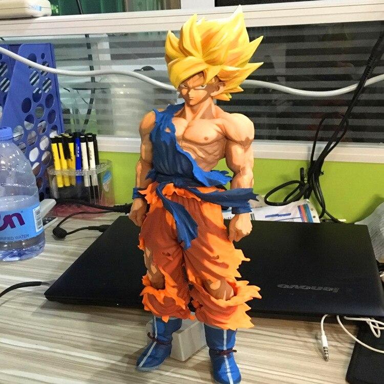 34 CM Dragon Ball Z nouveau maître étoiles pièce Super Saiyan SON GOKU Figure dessin animé Version BANPRESTO GOKU grande taille modèle jouet