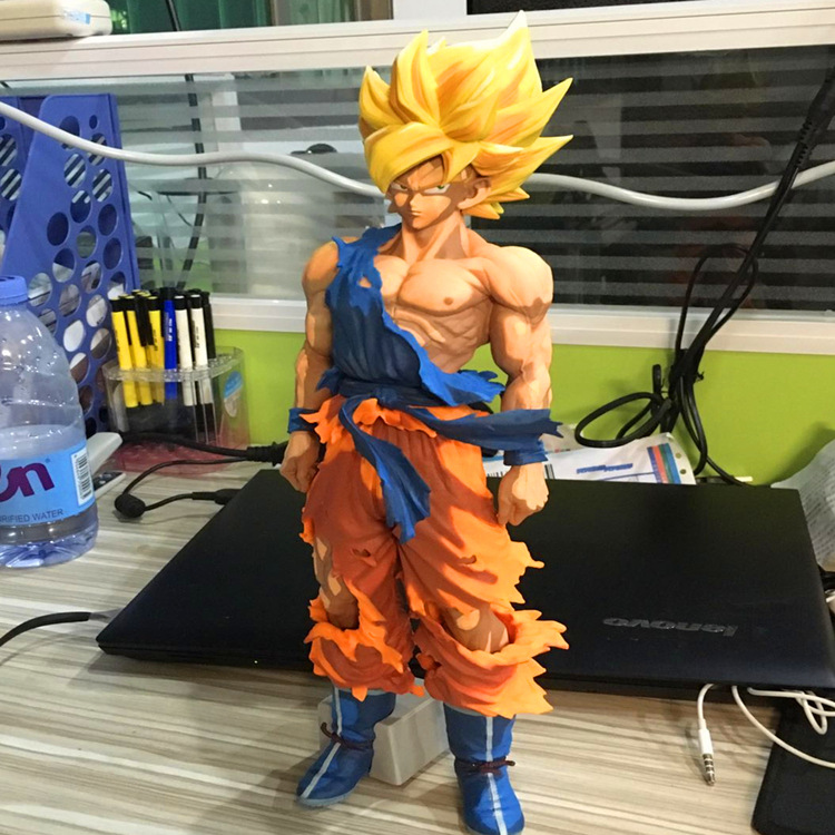34CM Dragon Ball Z New Master Stars Piece Super Saiyan SON GOKU Figure Cartoon Version BANPRESTO GOKU Big Size Model toy anime dragon ball super saiyan 3 son gokou pvc action figure collectible model toy 18cm kt2841