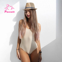 Pacento Solid Swimsuit Striped Swimwear 4 Colors One Piece Bathing Suits Female Sexy Bodysuit Brazilian Monokini