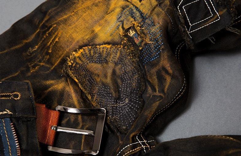 Nya herrsmode tappning hål rippade biker jeans Män casual slim rak - Herrkläder - Foto 4